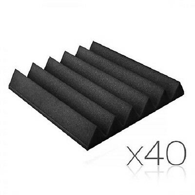 NEW 40x Recording Home Studio 6 Teeth Wedge Sound Acoustic Foam Panels 30x30cm