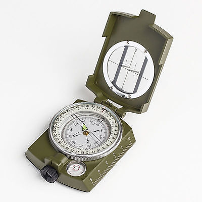 Pocket Military Survival Sighting Lensatic Compass 3in1 Metal Multifunction Camp
