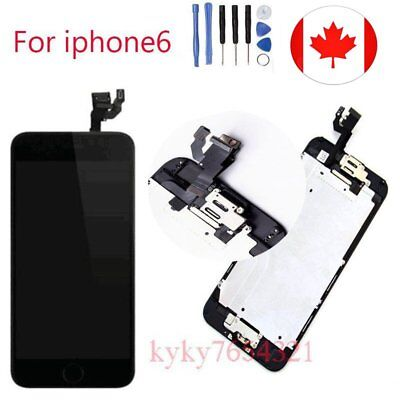 Black Replacement LCD Display Touch Screen For Iphone 6 4.7'' with homebutton