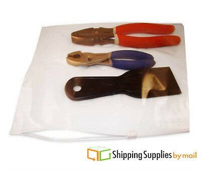 """1000 12.5""""x9"""" Bags Clear 3 Mil Poly Bag Reclosable Plastic Slider Baggies"""