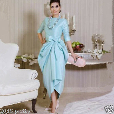 Short Plus Size Mother of The Bride Dress Tea Length Formal Evening Party Gowns