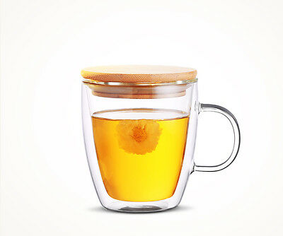 Espresso Latte Coffee Tea Cup Mugs Saucers Hot Drinking Glassware Set  475ml