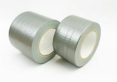 50mm/75mm/100mm Strong Duct Gaffa Tape Waterproof Cloth Tape Silver 50m