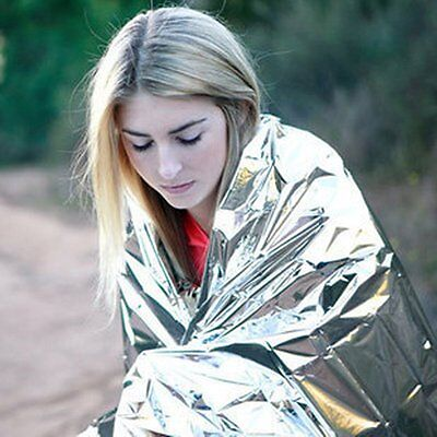 Useful Emergency Survival Outdoor Kit Rescue Thermal Space Sleeping Bag Blanket