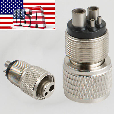 2 Hole to 4 Hole Connector Dental Handpiece Tubing Adapter Changer for Dentist