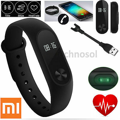 Xiaomi Mi Band 2 OLED Smart Wrist Watch Heart Rate Pedometers with White Band