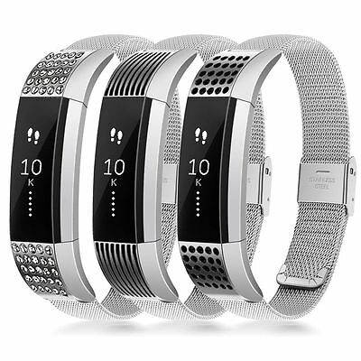 Stainless Steel Metal Watch Band Bracelet Strap Wristband fr Fitbit Alta Tracker