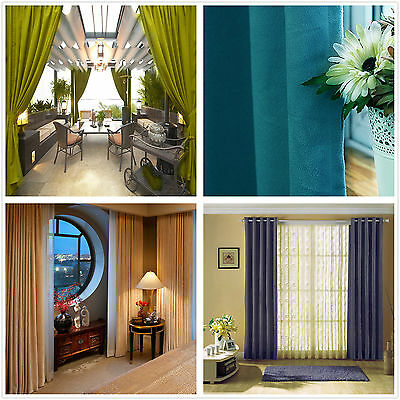 Fabric Block Out Curtain 260gsm-320gsm Ready Made Eyelet Curtains 1x140cmx230cm