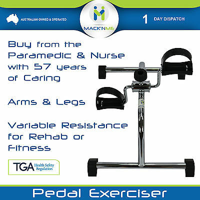Pedal Exerciser Arm Leg Rehab Fitness Exercise Machine Adjustable Portable Home