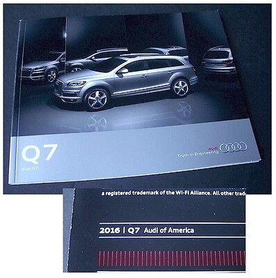 2015 2016 Audi Q7 Prestige Dealer Brochure 2016 Error ** Collectible ** L@@K TDi