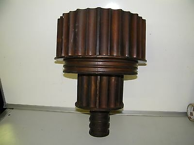 Antique Wooden Wall Mount Light Fixture Sconce Salvage