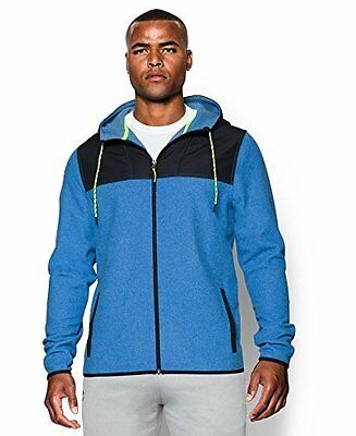 Under Armour Mens The ColdGear Infrared Fleece Full Zip Hoodie, Large, Blue Jet