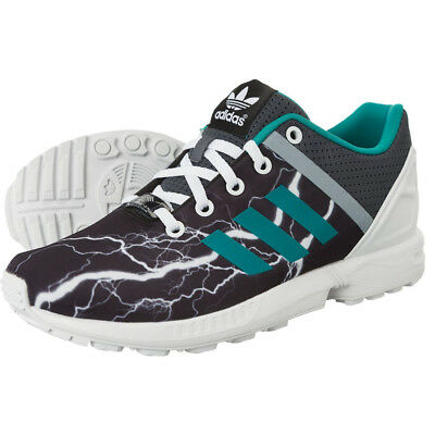 adidas originals ZX Flux split onyx childrens running trainers shoes S78734 -NEW