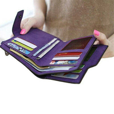 Women Grind Magic Bifold Leather Fashion New Vintage Wallet Card Holder Purse