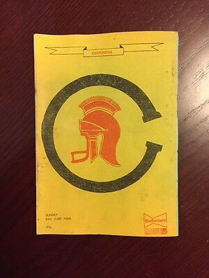 Centurions v The Royals 1986 American Football Programmes 8 pages