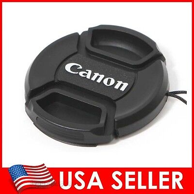 Canon 77mm Front Snap-On Center Pinch Lens Cap USA Seller