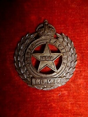 Indian Electrical & Mechanical Engineers WW2 Bronze Collar Badge, British India