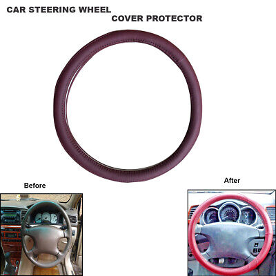 Steering Wheel Cover for CAR/VAN Leather Universal Soft  Leather