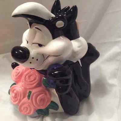 PEPE le PEW and PENELOPE COOKIE JAR 1998