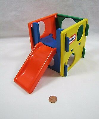 Rare! LITTLE TIKES miniature Dollhouse-Sized JUNGLE GYM PLAY CUBE ACTIVITY SLIDE
