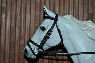 LSQ Raised Snaffle Bridle, Black, Breyer Stone Model Horse, Traditional 1:9