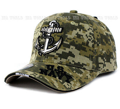 3829245be0f U.S. NAVY hat Military NAVY Official Licensed Baseball cap- Digital  Camouflage