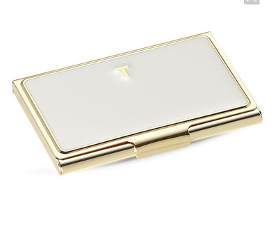 "kate spade new york 'one in a million' business card holder- Letter ""T""- White-"
