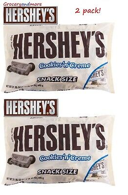 HERSHEY'S COOKIES 'N' CREAM Candy Bars Snack Size 905G MADE IN USA HERSHEYS