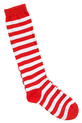 Striped Socks Red and White - Adult