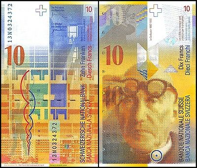 Switzerland 10 Francs, 2013, P-67e, UNC