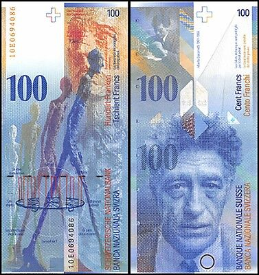Switzerland 100 Francs, 2010, P-72i, UNC