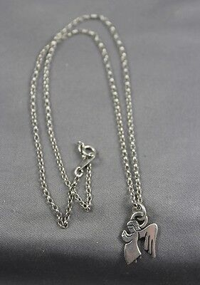 James Avery Sterling Silver Angel Pendant  Necklace