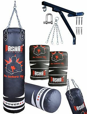 Leather PU PVC Punch Bag Boxing Filled MMA Punching Gloves Kickboxing Muay Thai