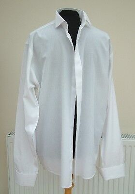 "16.5 WHITE WEDDING/FORMAL SHIRT  USED wing collar  26"" sleeve  55% cotton"