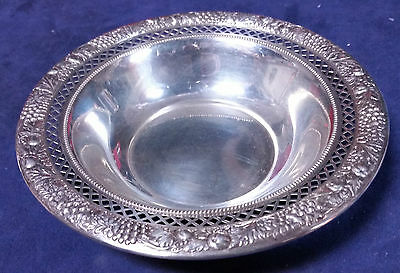 Rogers Lunt & Bowlen Sterling Silver 209  Nut Bon Bon Reticulated Bowl 83563 Dw