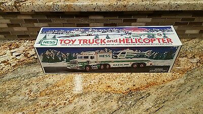 Hess Toy Truck - Toy Truck and Helicopter - 1995 - NIB