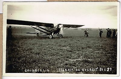Aviation - Carte Photo - Chamberlin Atterit Au Bourget - Photo Andre