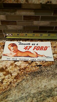 "Vintage Ink Blotter ""smooth As A 47 Ford"""