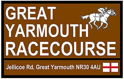 Horse Racing  Tourist Signs (Yarmouth) - Fun Souvenir Novelty Fridge Magnet Gift