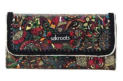 "NWT Sakroots Trifold Wallet Rainbow Spirit Desert New 7.5"" x 4"" New SHP INT""L"