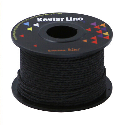 Super Quality 100ft Black Kevlar Sewing Threads 300lb 500lb Good Heat Resistance