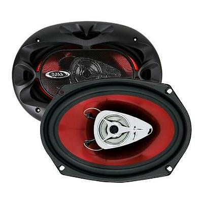 BOSS Chaos Exxtreme CH6920 350-Watt 6x9in 2-Way Red Automotive Speakers(CH6920)