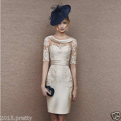 Champagne Short Mother of the Bride Dress Elegant Plus Size Women Party Gowns
