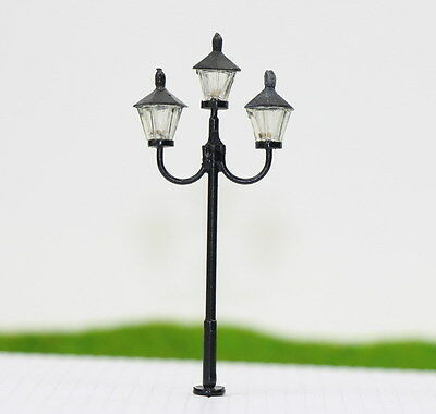 LYM27 5pcs Model Railway Train Lamp Post Street Lights N TT Scale LEDs NEW