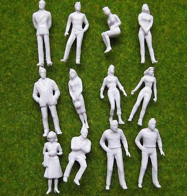 P50B 100pcs Model Trains 1:50 Scale WHITE Figures O