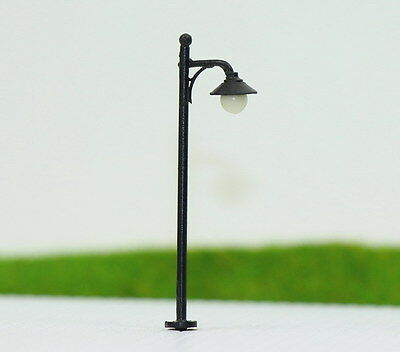 LYM21 10pcs Model Railway Train Lamp Post Street Lights N TT Scale LEDs NEW