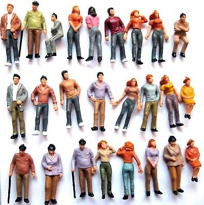 P50W 50pcs Model Trains 1:48 Painted Figures O SCALE