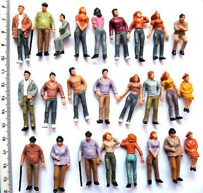 P43 25pcs Model Trains 1:43 Scale Painted Figures O