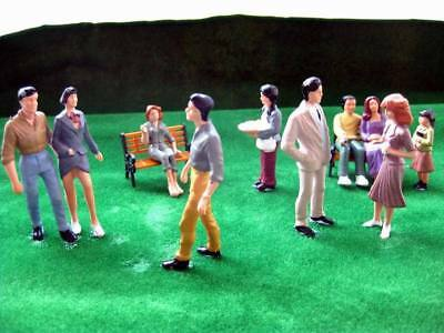 P2510 10pcs Model Train 1:25 Figures G SCALE with bench