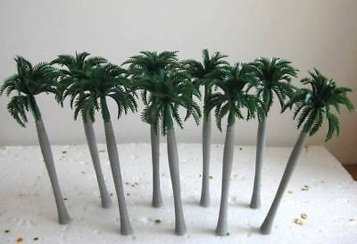 TDY17 10pcs Layout Model Train Palm Trees Scale O 17CM